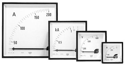 Ampèremètres et voltmètres analogiques